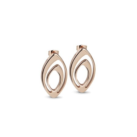 Dew Drop Oval Earrings  - Click to view a larger image