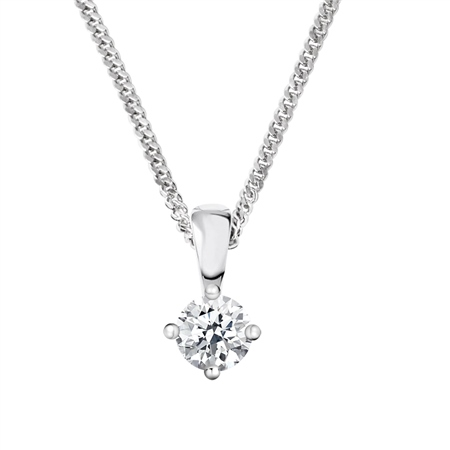 18ct White Gold Diamond Pendant - 0.30ct  - Click to view a larger image