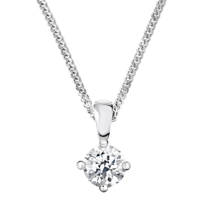 18ct White Gold Diamond Pendant - 0.50ct  - Click to view a larger image