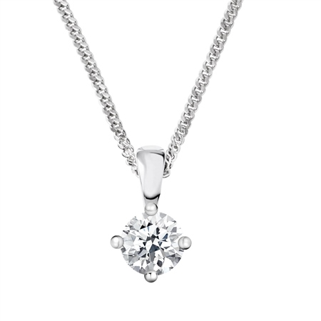 18ct White Gold Diamond Pendant - 0.60ct