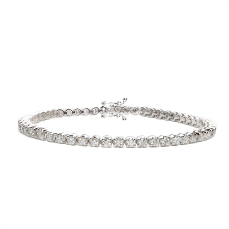 18ct White Gold Diamond Tennis Bracelet - 3.00ct  - Click to view a larger image