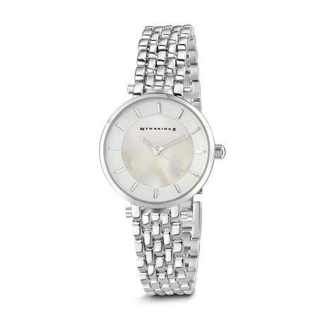 Ladies Silverplated Watch White Face  - Click to view a larger image