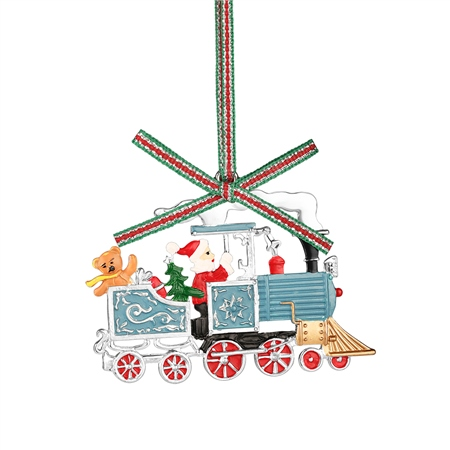 Santa in Train Decoration