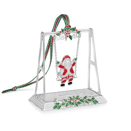 Santa on Swing Decoration