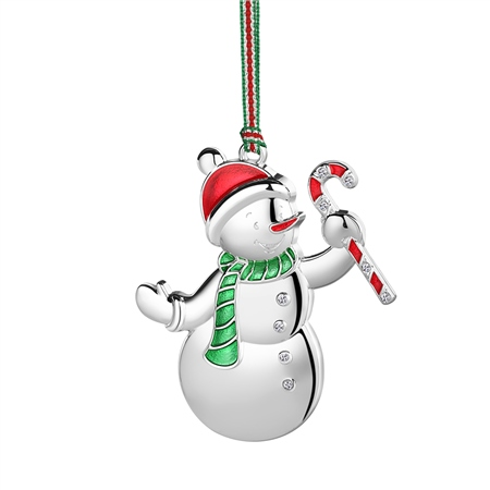 Snowman with Candycane Decoration