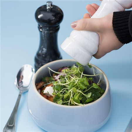 Classic Marble Salt and Pepper Mills  - Click to view a larger image