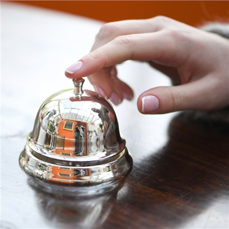 Silver Plated Desk Bell  - Click to view a larger image
