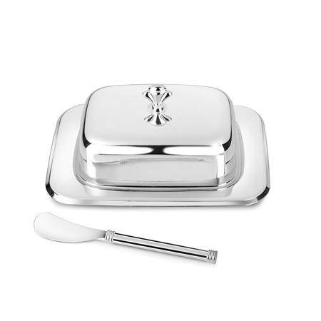 Silver Plated Rectangular Butter Dish  - Click to view a larger image