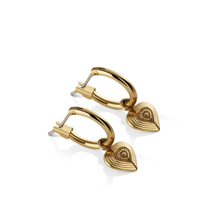 Vintage Heart Gold Plated Earrings