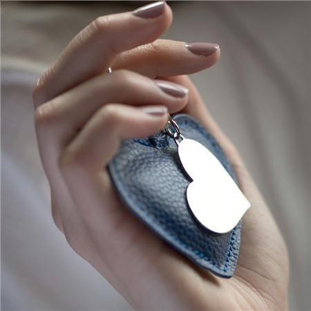 Heart Keyring with Leather