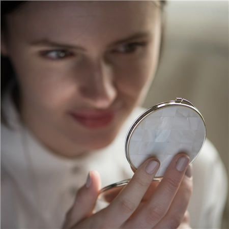 Mother of Pearl Compact Mirror  - Click to view a larger image