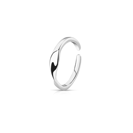 Silver Plated Twist Ring  - Click to view a larger image