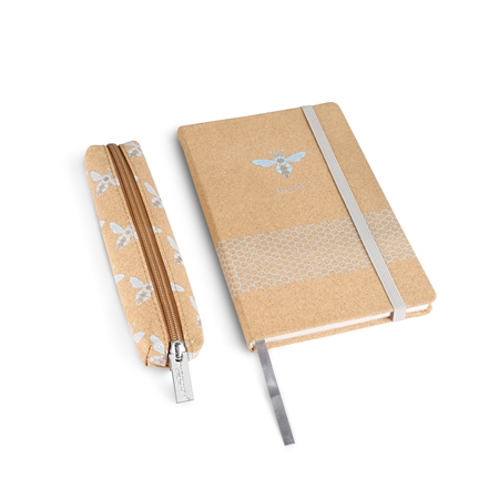 Cork Notebook with Pencil Case  - Click to view a larger image