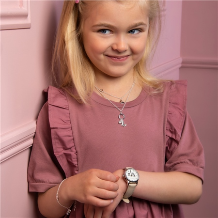 Buttercup Childs Watch with Beige Strap