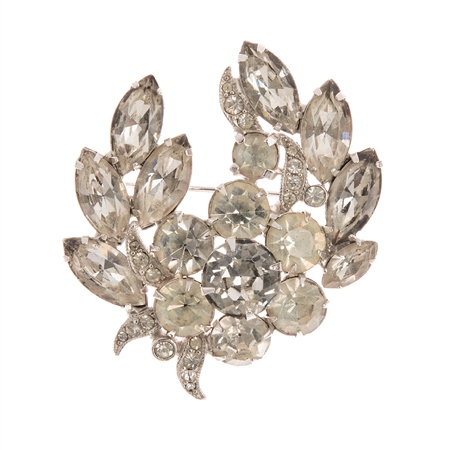 Vintage Eisenberg Crystal Brooch
