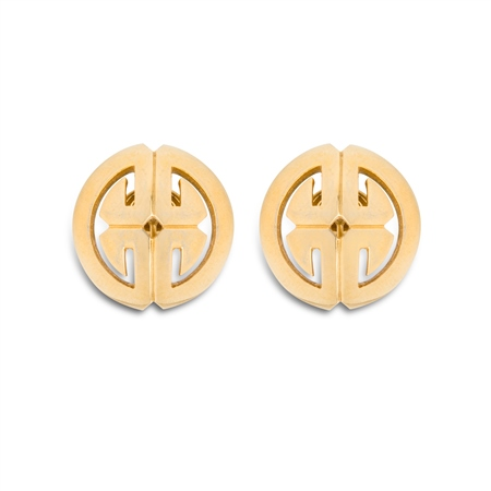 Vintage Trifari Gold Tone Earrings