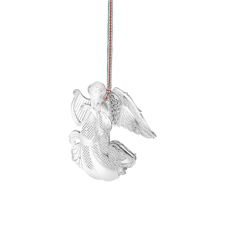 Angel with Harp Hanging Decoration  - Click to view a larger image