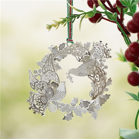 Birds in Wreath Hanging Decoration  - Click to view a larger image
