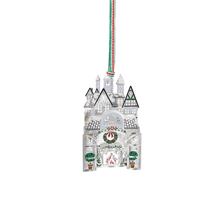Christmas Home Scene Hanging Decoration  - Click to view a larger image