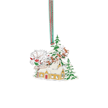 Santa and Sleigh Scene Hanging Decoration  - Click to view a larger image