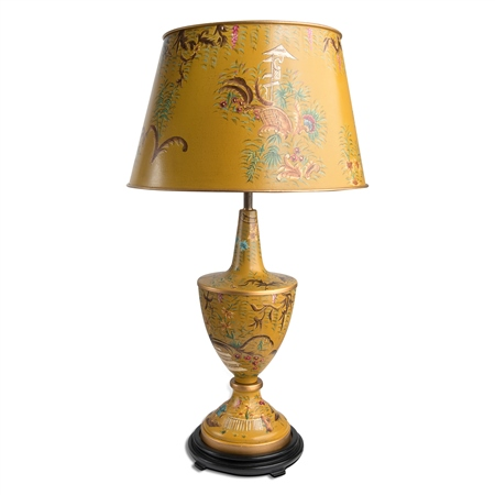 Toleware Large Lamp Ochre  - Click to view a larger image