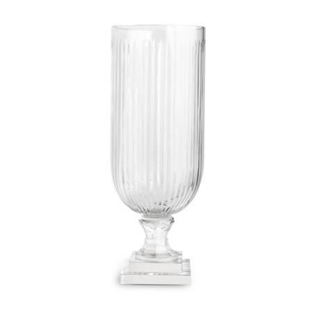 Ribbed Cut Glass Vase
