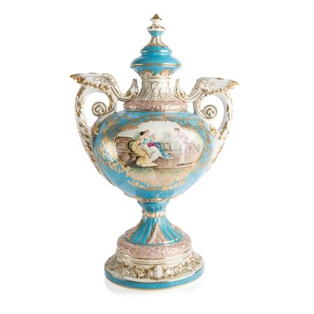 Vintage Sevres Vase Blue  - Click to view a larger image