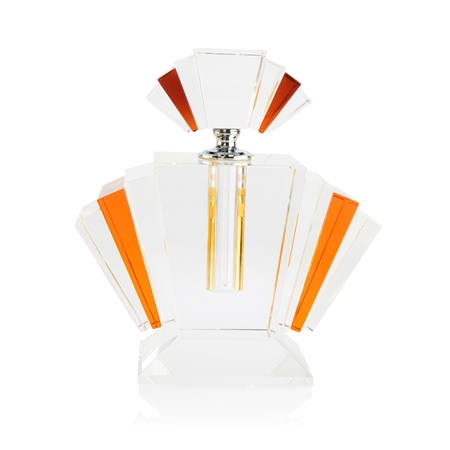 Amber Fan Scent Bottle Large  - Click to view a larger image