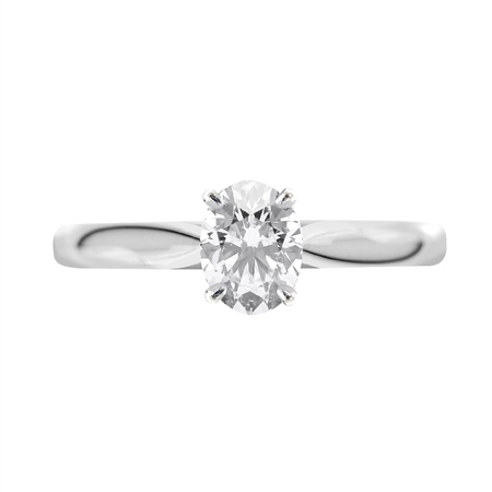 18ct White Gold Oval Shape Diamond Ring   - Click to view a larger image