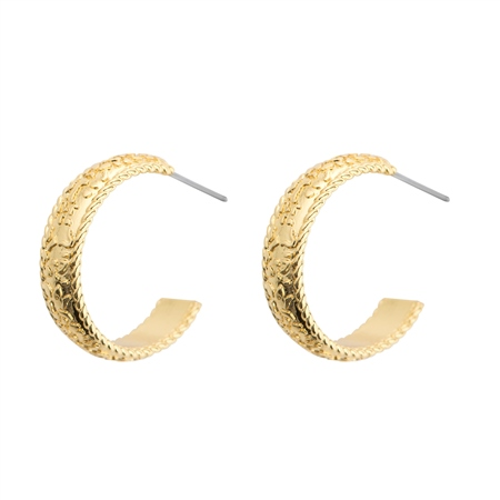 Gold Plated Hoop Earrings  - Click to view a larger image