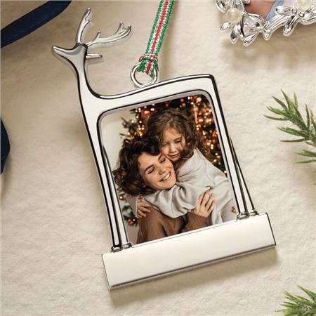 Newbridge Silverware Reindeer Photoframe Decoration  - Click to view a larger image