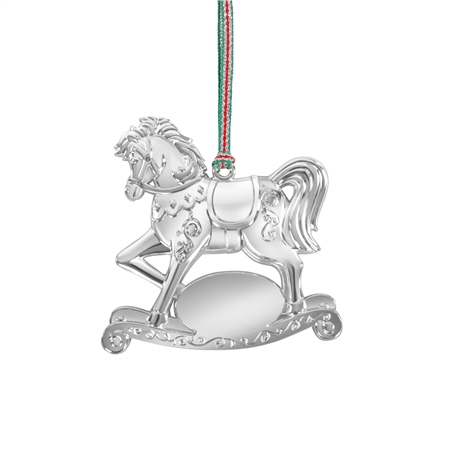 Newbridge Silverware Silver Plated Rocking Horse Hanging Decoration  - Click to view a larger image